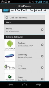 Android, TouchWiz, Sense oder CyanogenMod – mit Droid Papers all in einer App