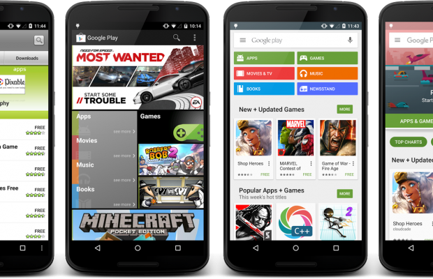 Google Play Store Neues Design