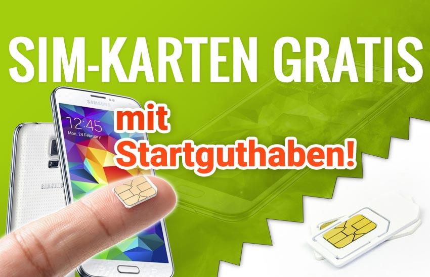 gratis sim karte mit guthaben Gratis SIM   Kostenlose SIM Karten mit Startguthaben